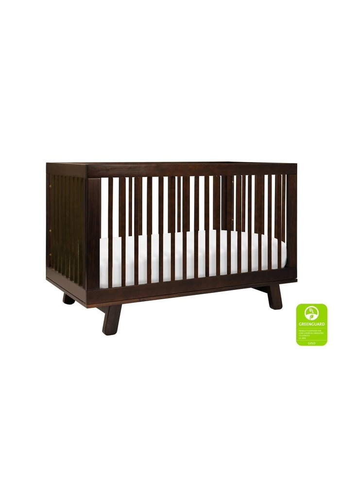 Baby Letto Hudson 3 In 1 Convertible Crib With Toddler Rail In Espresso