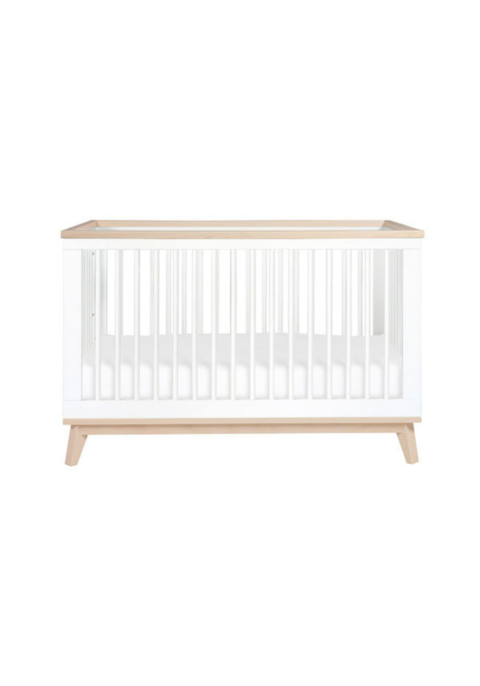 Baby Letto Scoot 3 In 1 Convertible Crib Toddler Rail In White Washed Natural