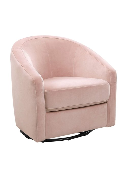 Baby Letto Baby Letto Madison Swivel Glider In Velvet Pink