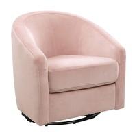 Baby Letto Madison Swivel Glider In Velvet Pink