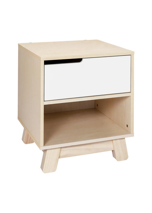 Baby Letto Baby Letto Hudson Night Stand In Washed Natural/White