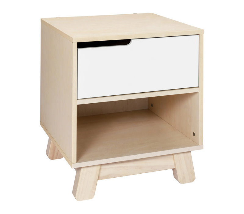 Baby Letto Hudson Night Stand In Washed Natural/White