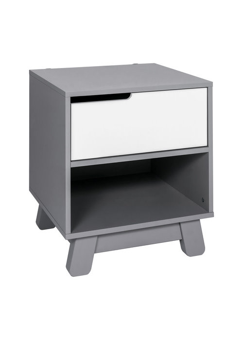 Baby Letto Baby Letto Hudson Night Stand In Grey And White