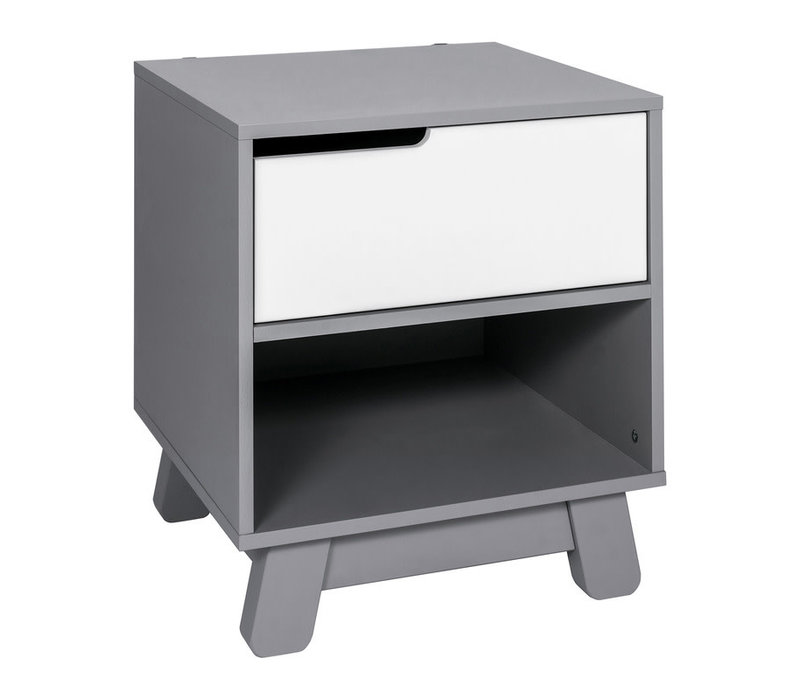Baby Letto Hudson Night Stand In Grey And White