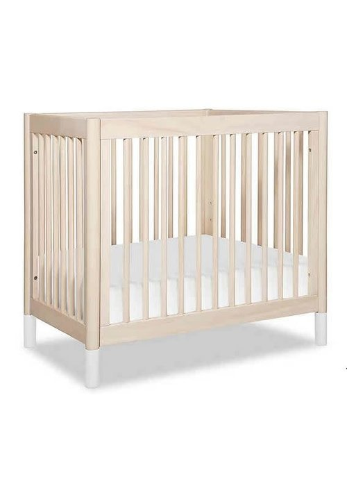 Baby Letto Baby Letto Gelato 2 In 1 Mini Crib White / Washed Natural(Pad Included)