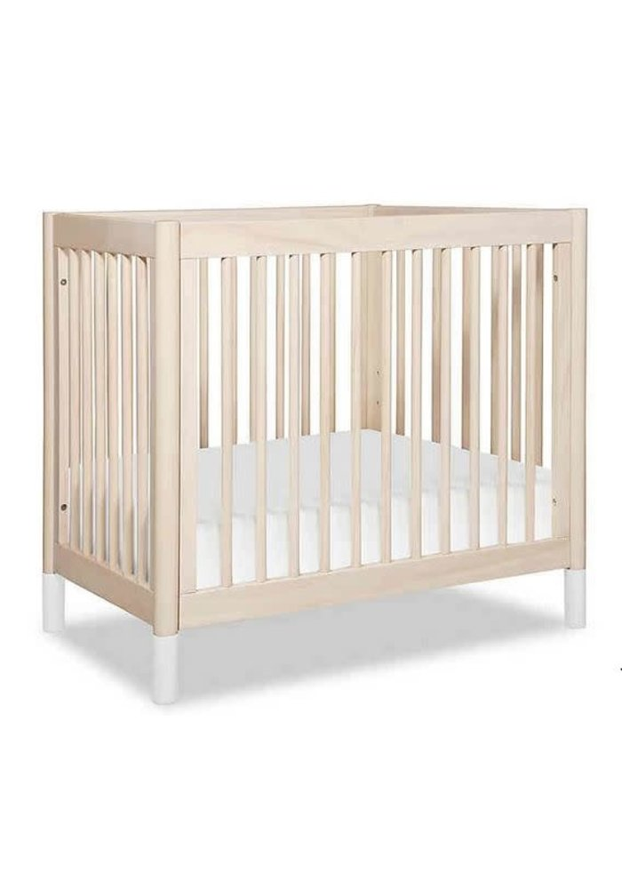 Baby Letto Gelato 2 In 1 Mini Crib White / Washed Natural(Pad Included)