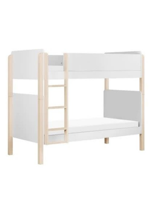 Baby Letto Baby Letto Tip Toe Bunk Bed In White And Washed Natural