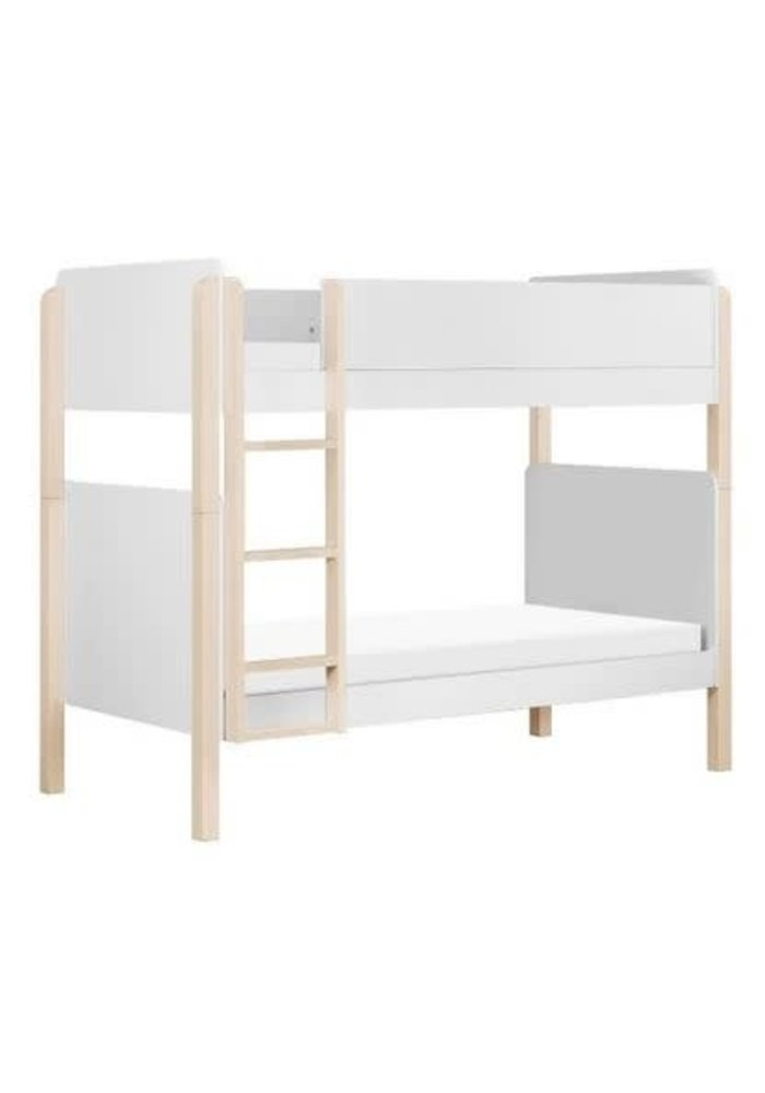 Baby Letto Tip Toe Bunk Bed In White And Washed Natural