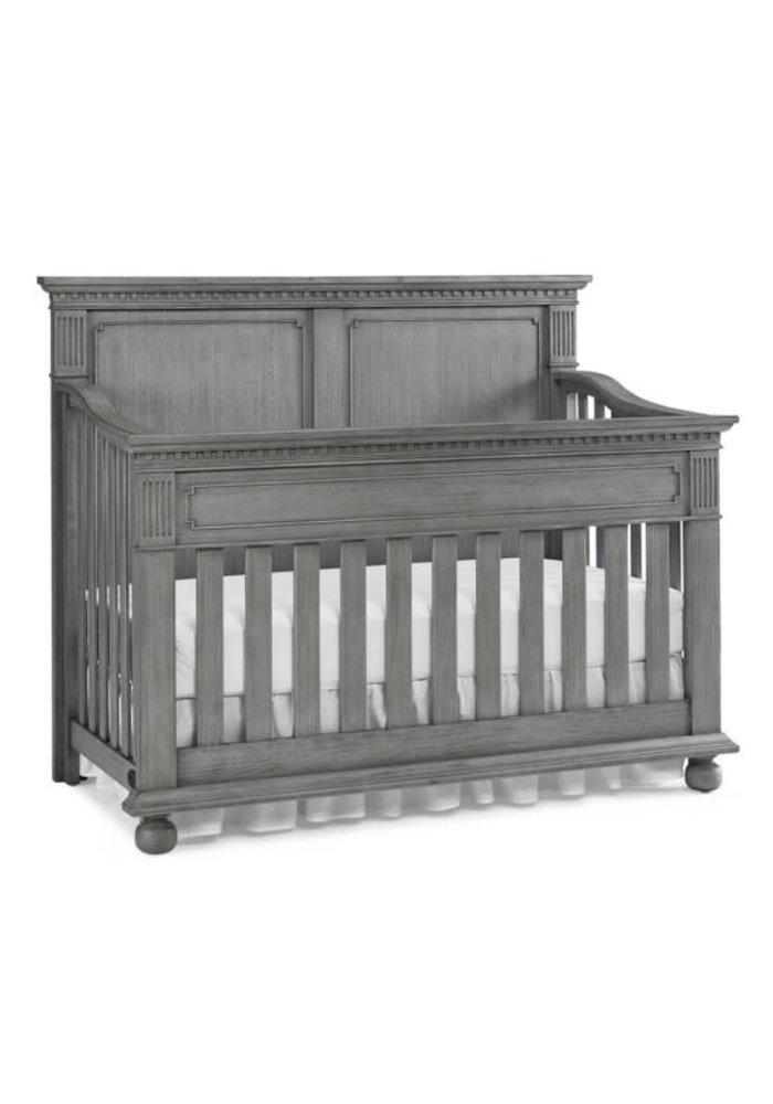 Dolce Babi Naples Full Panel Convertible Crib In Nantucket Grey