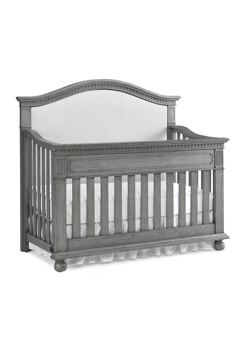 Dolce Babi Dolce Babi Naples Upholstered Convertible Crib In Nantucket Grey