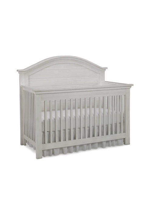 Dolce Babi Dolce Babi Lucca Curved Panel Convertible Crib In Sea Shell White