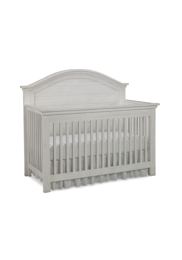 Dolce Babi Lucca Curved Panel Convertible Crib In Sea Shell White