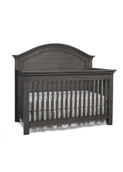 Dolce Babi Dolce Babi Lucca Curved Full Panel Convertible Crib In Weathered Grey