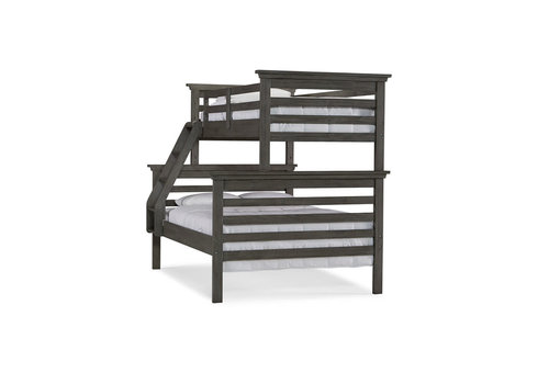 Dolce Babi Dolce Babi Lucca Twin/ Full Size Bunk Bed In Weathered Grey