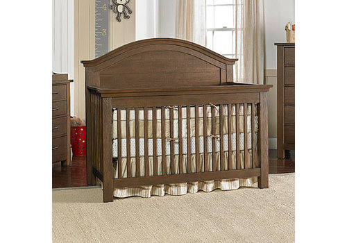 Dolce Babi Dolce Babi Lucca Curved Panel Convertible Crib In Weathered Brown