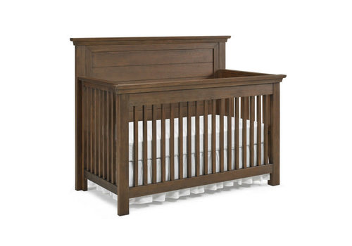Dolce Babi Dolce Babi Lucca Crib Flat Top Full Panel In Weathered Brown
