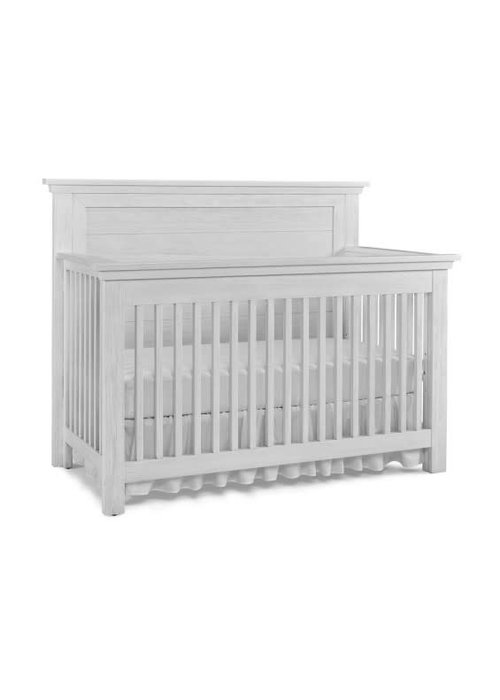 Dolce Babi Dolce Babi Lucca Crib Flat Top Full Panel In Sea Shell White