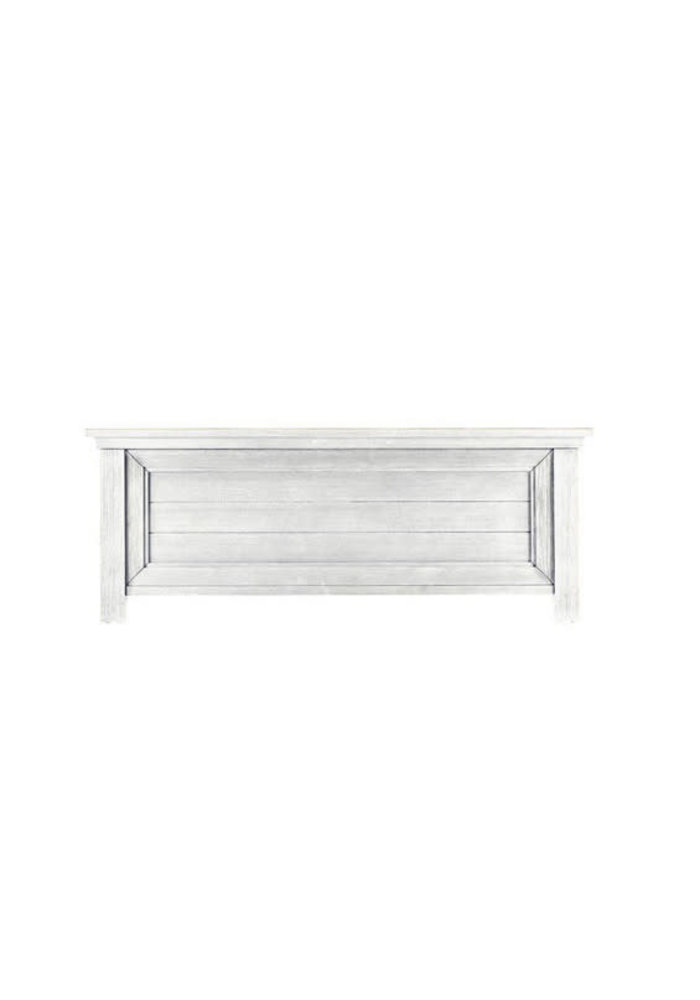 Dolce Babi Lucca Low Profile Footboard In Sea Shell White