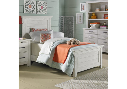 Dolce Babi Dolce Babi Lucca Twin Size Bed In Sea Shell White