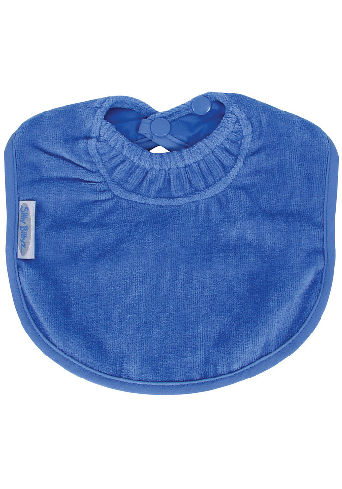 Silly BillyZ Velour Plain Bib 6 Months - 3 Yrs In Royal Blue