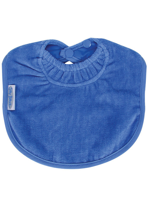 Silly Billyz Silly BillyZ Snuggly Toweling Biblet 0-2 Years In Royal Blue