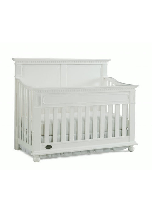 Dolce Babi Dolce Babi Naples Full Panel Convertible Crib In Snow White