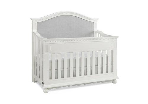 Dolce Babi Dolce Babi Naples Upholstered Convertible Crib In Snow White