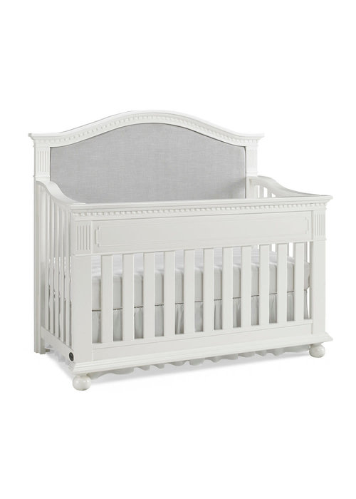Dolce Babi Dolce Babi Naples Upholstered Convertible Crib In Snow White