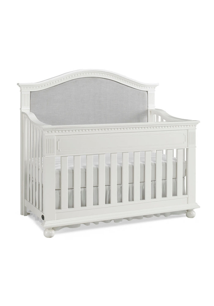 Dolce Babi Naples Upholstered Convertible Crib In Snow White