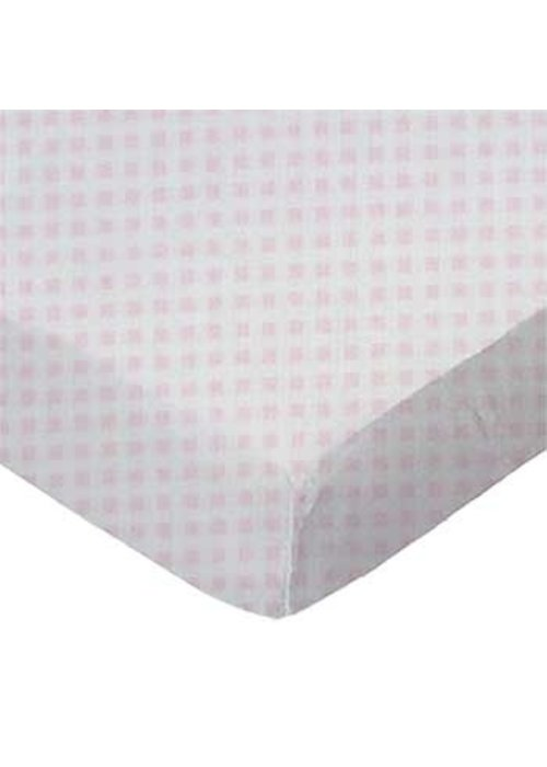 Royal Mark Cradle Sheets Jersey Cotton In Pink Gingham