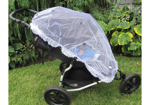 Royal Mark Stroller Net With Bows In Navy