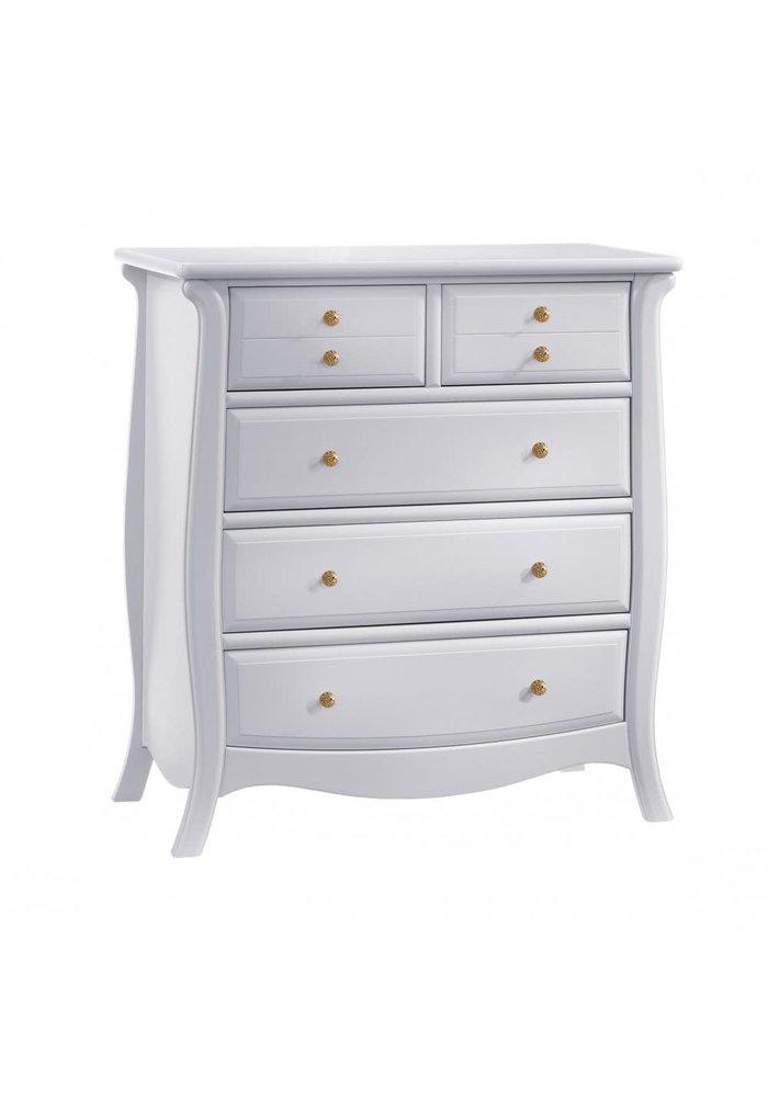 Natart Bella Gold 5 Drawer Dresser