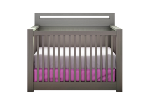 Nest Juvenile Nest Juvenile Milano 4 In 1 Convertible Crib In Elephant Gray
