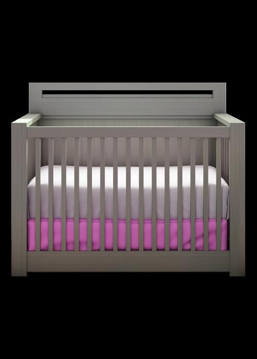 Nest Juvenile Nest Juvenile Milano 4 In 1 Convertible Crib In Elephant Gray