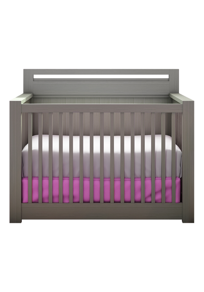 Nest Juvenile Milano 4 In 1 Convertible Crib In Elephant Gray