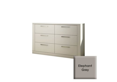 Nest Juvenile Nest Juvenile Milano Drawer Double Dresser In Elephant Grey
