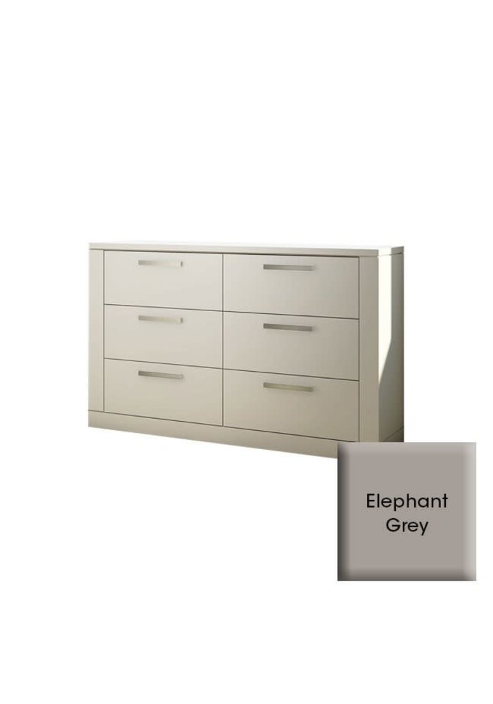 Nest Juvenile Milano Drawer Double Dresser In Elephant Grey