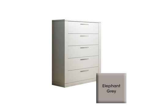 Nest Juvenile Nest Juvenile Milano 5 Drawer Dresser In Elephant Grey
