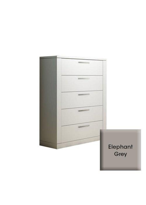 Nest Juvenile Nest Juvenile Milano 5 Drawer Dresser In Elephant Grey