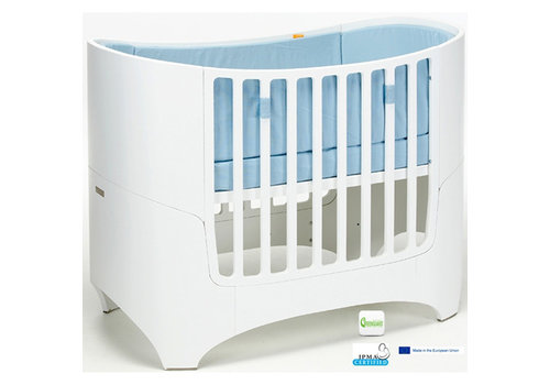 Tulip Tulip Leander Crib In White With Mattress