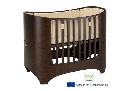 Tulip Tulip Leander Crib In Walnut With Mattress