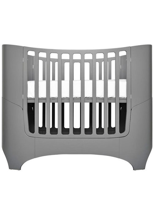 Tulip Tulip Leander Crib In Grey With Mattress
