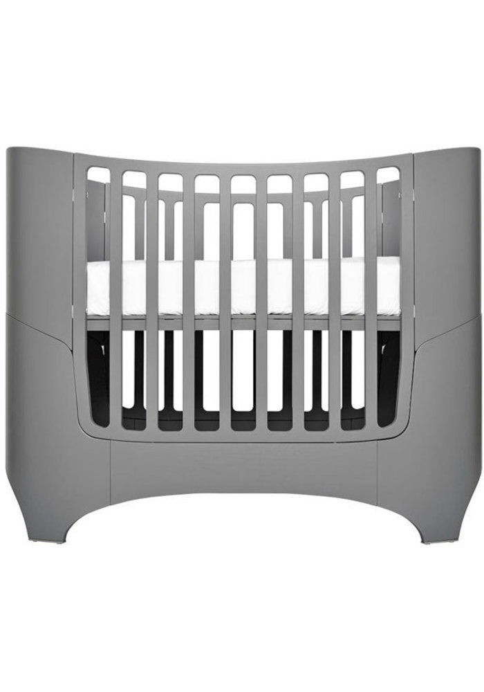 Tulip Leander Crib In Grey With Mattress