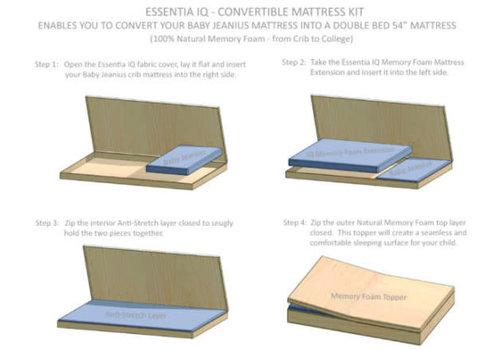 Essentia Essentia Junior Jeanius Natural Mattress Kit-Conversion Kit For Full Size