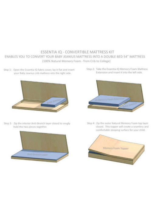 Essentia Essentia Junior Jeanius Natural Mattress Kit-Conversion Kit For Full Size