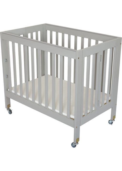 Fizzy Baby Fizzy Baby Modern Mini Porta Crib In Grey- 3 Level