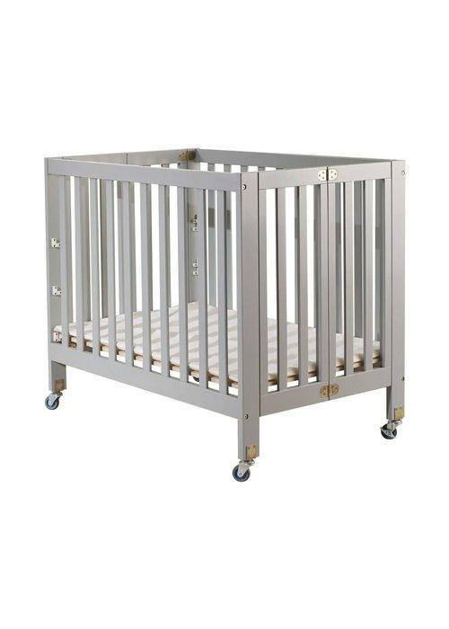 Orbelle Orbelle Roxy Full Size Folding Crib In Gray
