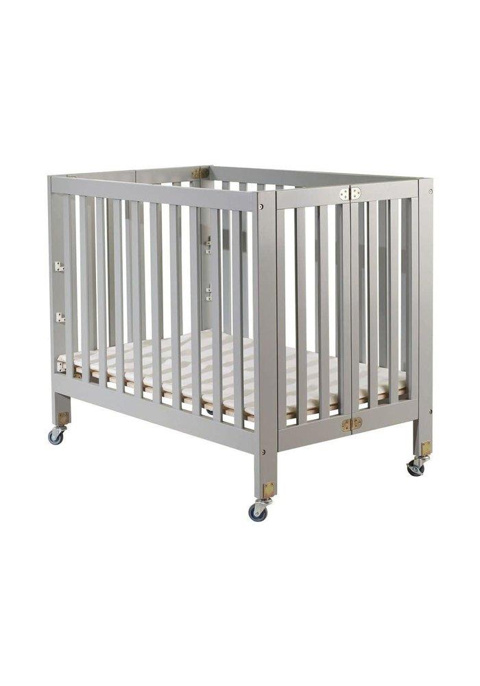 Orbelle Roxy Full Size Folding Crib In Gray