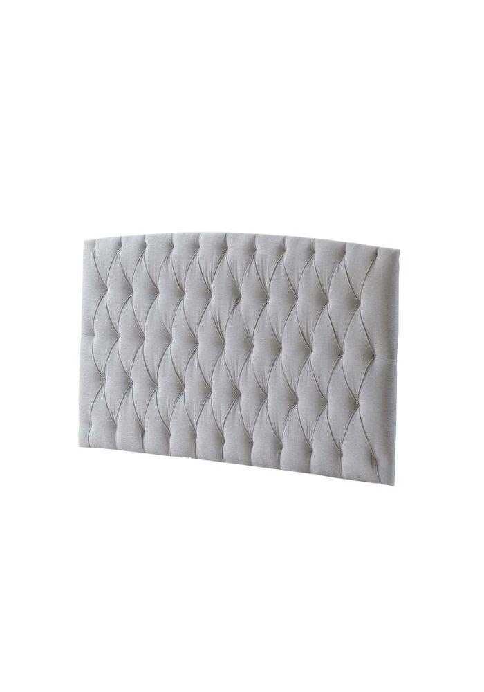 Natart Allegra Tufted Panel In Linen Gray