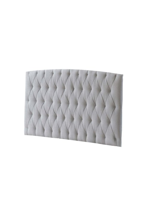 Natart Natart Bella Tufted Panel In Linen Gray